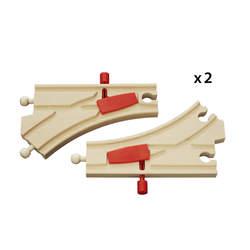 Brio 33344-Aiguillages mécaniques 14,4 cm