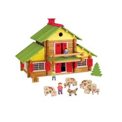 Chalet en bois 240 pièces avec 4 personnages