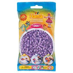 Sachet 1000 perles à repasser violet pastel