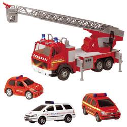 3 véhicules d'urgence et accessoires