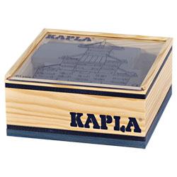 Kapla-40 planchettes en bois bleu foncé