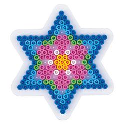 Plaque pour perles à repasser petite étoile
