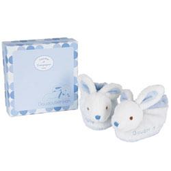 Chaussons lapin bonbon bleu