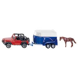 Jeep Wrangler Avec Remorque à chevaux