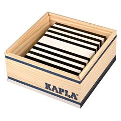 Kapla-50 planchettes noires et blanches
