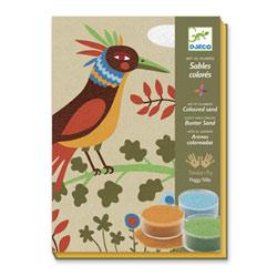 Sables colorés oiseaux de paradis