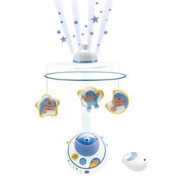 Mobile double projection bleu