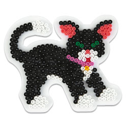 Plaque pour perles à repasser midi chat
