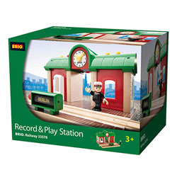 Brio 33578-Gare à enregistreur vocal