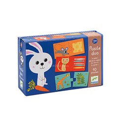 Puzzle duo a table les animaux
