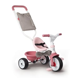 Tricycle be move confort - tricycle evolutif avec roues silencieuses - rose