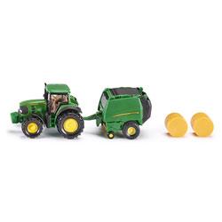 Tracteur John Deere avec presse à balles rondes