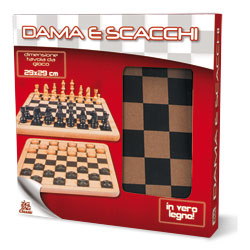 Jeux dames et échecs 2 en 1