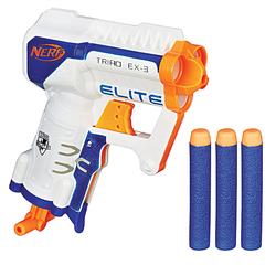 Nerf-Pistolet Nerf Elite Triad et fléchettes Nerf elite officielles