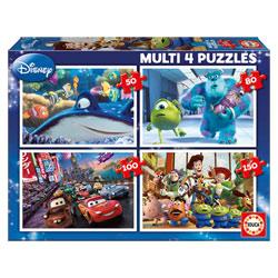 4 puzzles progressifs Disney Pixar