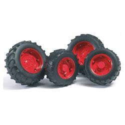 Accessoire tracteur-Roues jantes rouges S2000