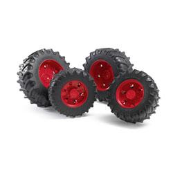 Accessoire tracteur - Roues jantes rouges S3000