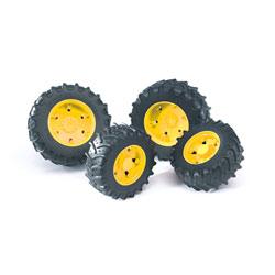 Accessoire tracteur - Roues jantes jaunes S3000