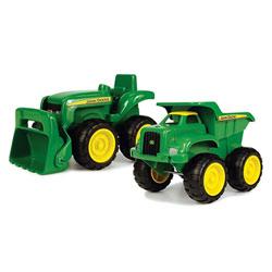 Camion benne et tracteur John Deere