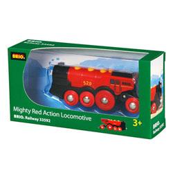 Brio 33592-Locomotive rouge à piles