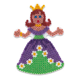 Plaque pour perles à repasser midi princesse