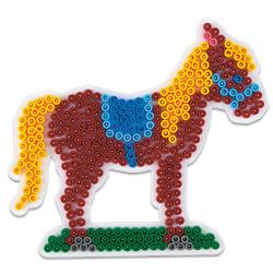 Plaque pour perles à repasser midi cheval