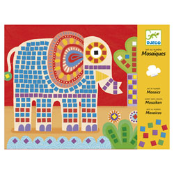 Mosaiques élephant et escargot