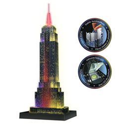 Puzzle 3D Empire State Building Night 216 pièces