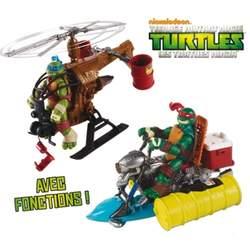 Véhicule pour figurine Tortues Ninja 12 cm