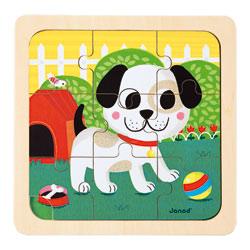 Puzzle chien Titus 9 pièces
