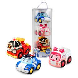 Poli coffret 3 véhicules à friction