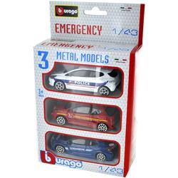 Pack de 3 véhicules d'intervention