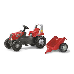 Tracteur à pédales Rolly junior avec remorque