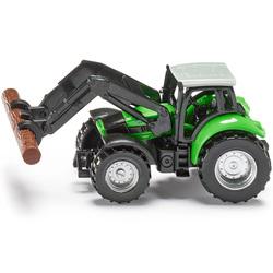 Tracteur avec pince à bois
