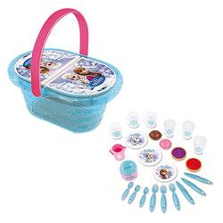 La reine des neiges - panier pique nique - 21 accessoires inclus