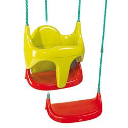 Balancoire siège bébé 2 en 1 - raccord et cordes fournis
