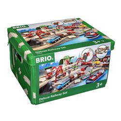 Brio 33052-Circuit chemin de fer deluxe 87 pièces