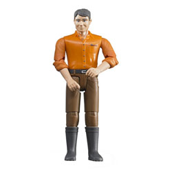 Figurine homme jean marron