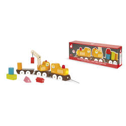 Train Grue Multi Colors en bois