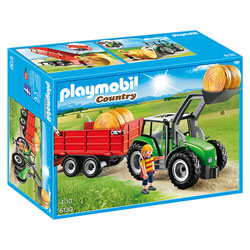 6130 - Tracteur avec pelle et remorque - Playmobil Country