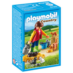 6139 - Soigneur avec chats - Playmobil Country