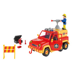 Sam le pompier - pick up venus avec fonction lance eau - + 4 accessoires - + 1 figurine incluse