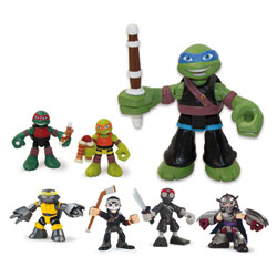 Blister 2 personnages Tortue Ninja