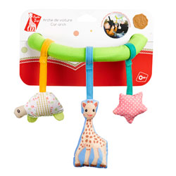 Arche de voiture ventouse Sophie la Girafe avec hochet