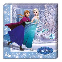 20 serviettes La Reine des Neiges
