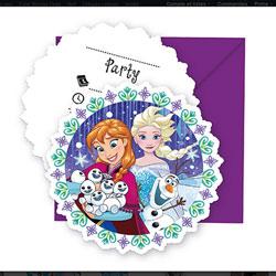 Invitations avec enveloppes Reine des Neiges