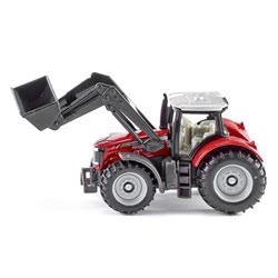 Tracteur Massey Fergusson avec chargeur frontal