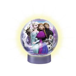 Puzzle 3D lumineux 72 pièces la reine des neiges