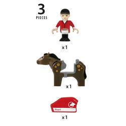 Brio 33793-Cavalière et son cheval