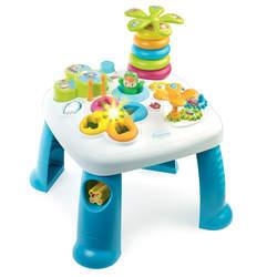 Cotoons table d'activités - jeu d'eveil - fonctions electroniques et mécaniques - bleu